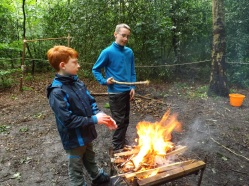 Fire lighting with Royals Patrol