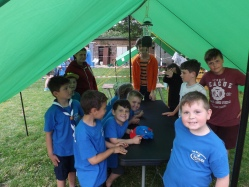 Beavers experiencing Scout camp