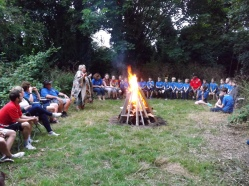 The group campfire