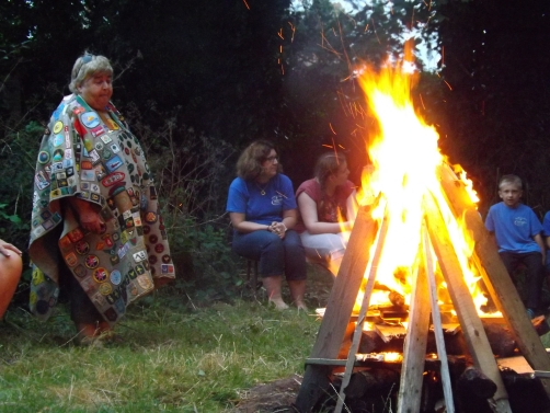 Skip leading the campfire