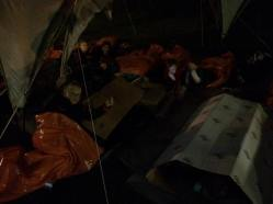 Homeless sleeping in aid of Porchlight