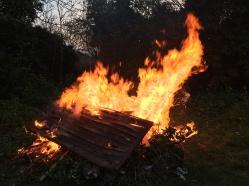 The evening bonfire