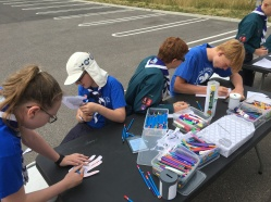 Our Scouts running the stall!