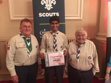 Chief, 2012 & Skip at the Kent Scouts AGM