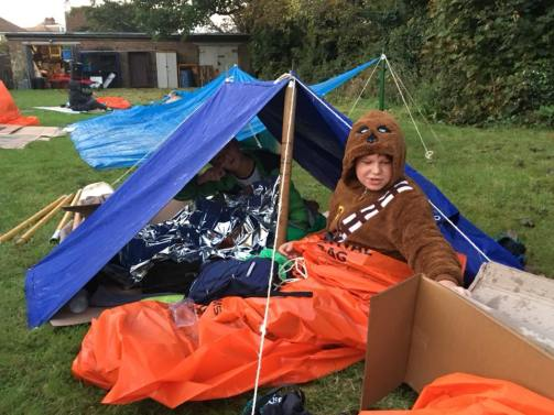 Our Scouts waking up the next morning!