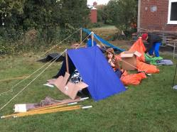 Homeless shelters made by our Scouts