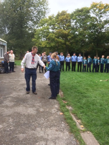 Our Scouts being presented with our ADUTT Awards!