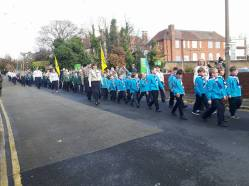 1st St Lawrence taking part in the parade
