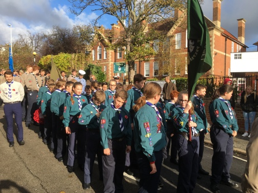 Our Scouts ready to parade