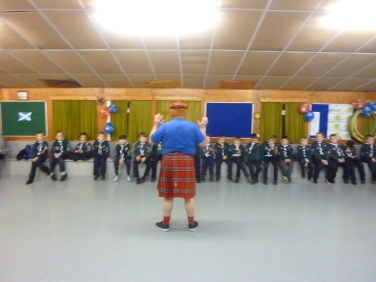 Our Cubs learning about St Andrew's Day