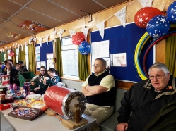Jim and Eddie running the tombola