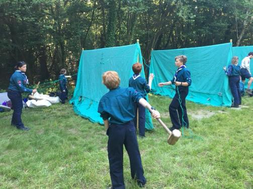 Our Scouts pitching the tents