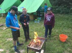 Our Scouts preparing fires