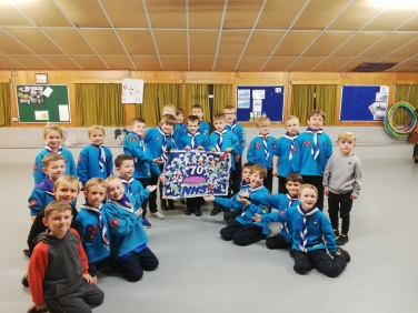 Delemere Beavers with handicraft collage