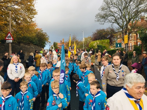 Delamere Beavers on Parade
