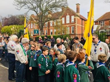 Spitfire Cubs on Parade